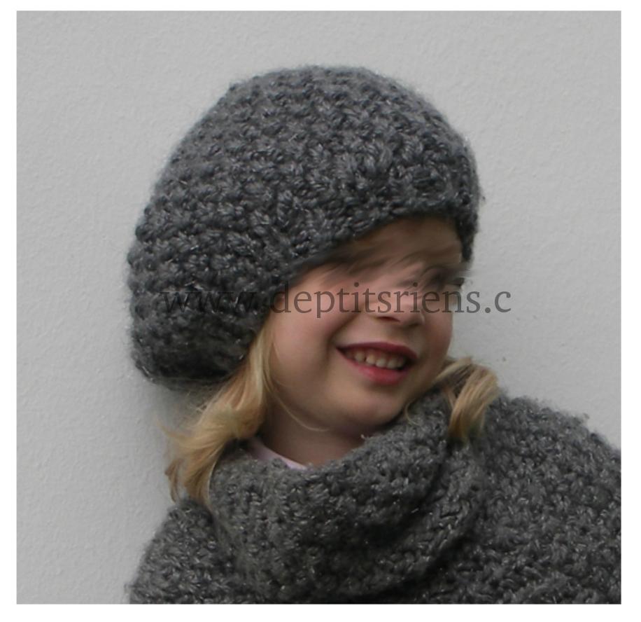 tricot bonnet-echarpe modele gratuit