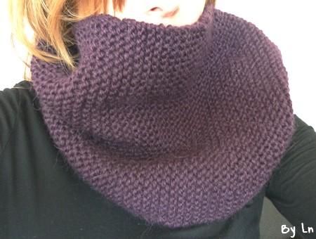 modèle tricot echarpe debutant