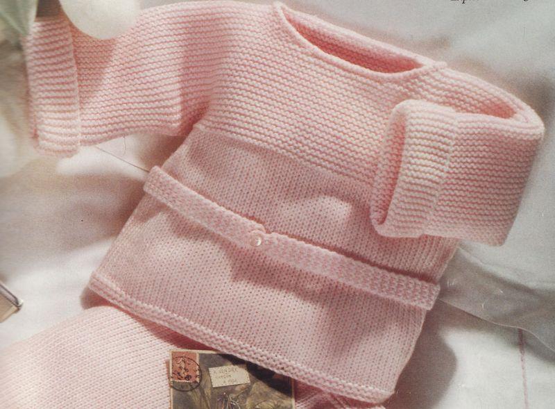patron tricot gilet bébé