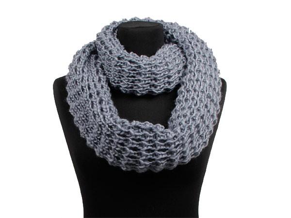 modèle tricot foulard circulaire