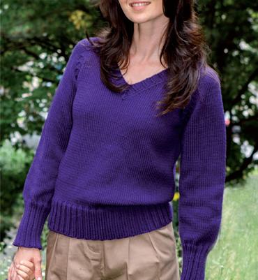 modele gratuit tricot pull col v femme
