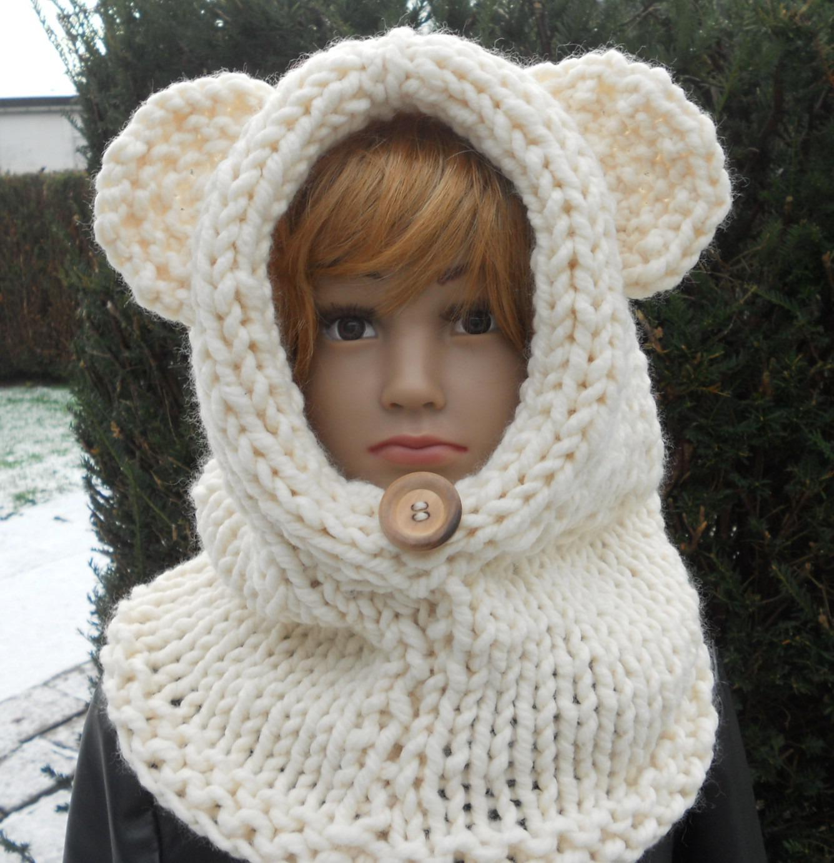 Mod le tricot bonnet cagoule - Cote 2 2 tricot ...