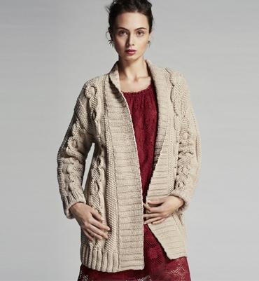 modèle tricot gilet torsade