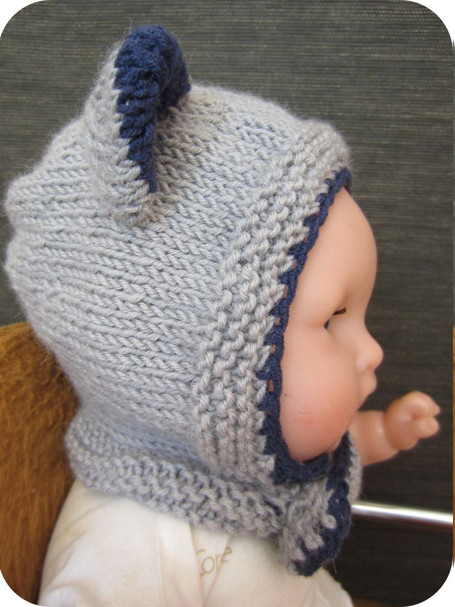 patron tricot bonnet bebe rigolo