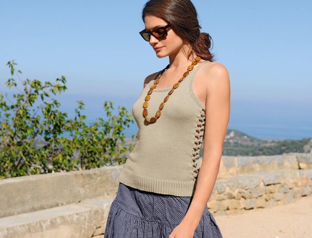 modèle tricot debardeur