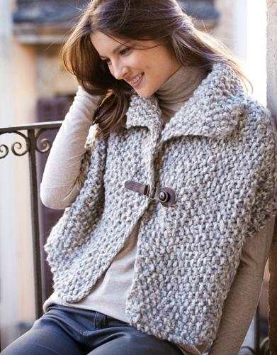 modele tricot gilet court femme