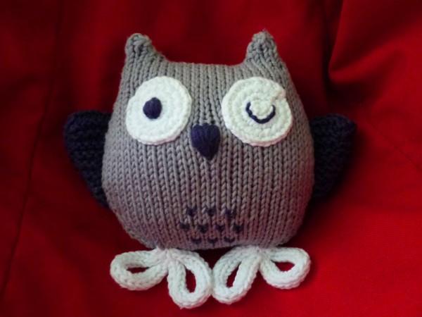 modele tricot hibou
