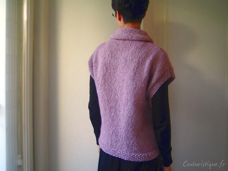 Affichage mod le tricot sans manche femme - Tricot sans aiguille ...
