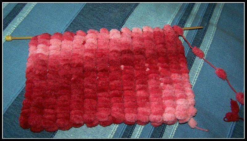 tricoter laine pompon xxl
