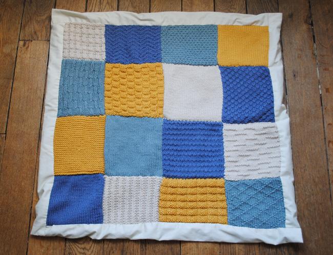 patron tricot couverture patchwork. Black Bedroom Furniture Sets. Home Design Ideas