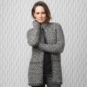 modèle tricot gilet hiver femme