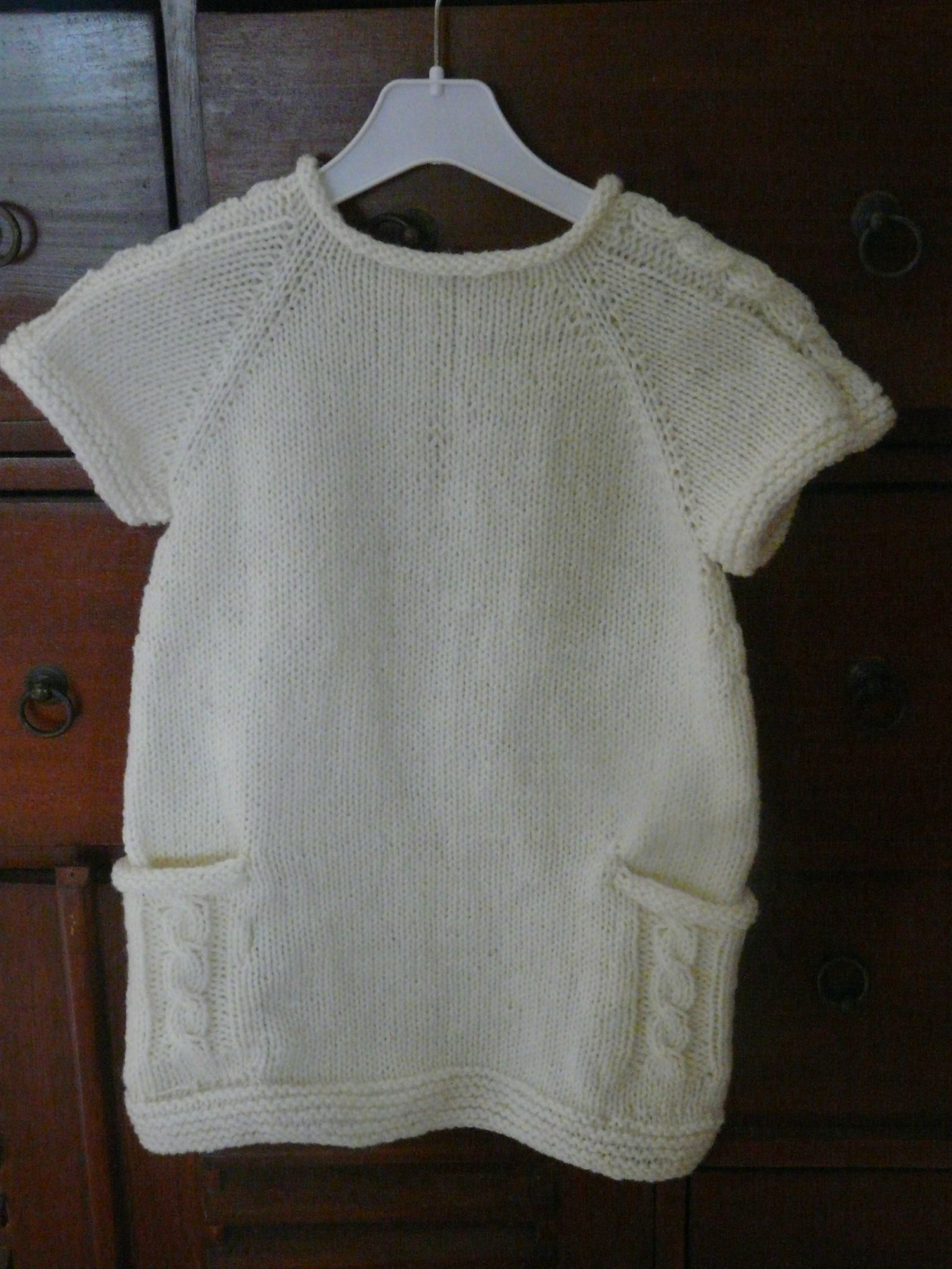 patron robe tricot fille 3 ans