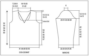 a16eff946f91d beau patron tricot pull col v femme