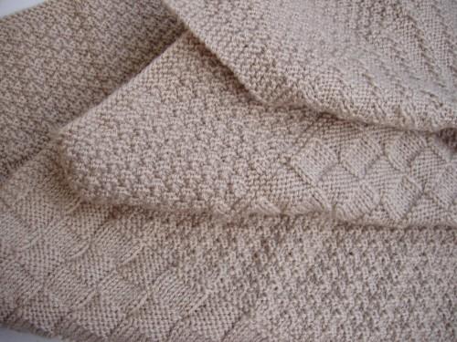 mod le couverture en tricot pour b b. Black Bedroom Furniture Sets. Home Design Ideas