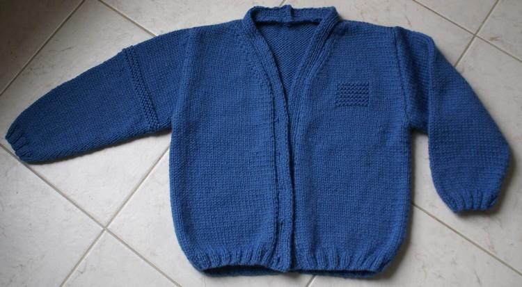modèle tricot gilet 2 ans