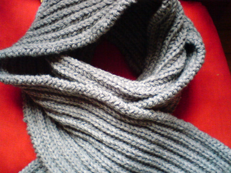 patron tricot foulard homme