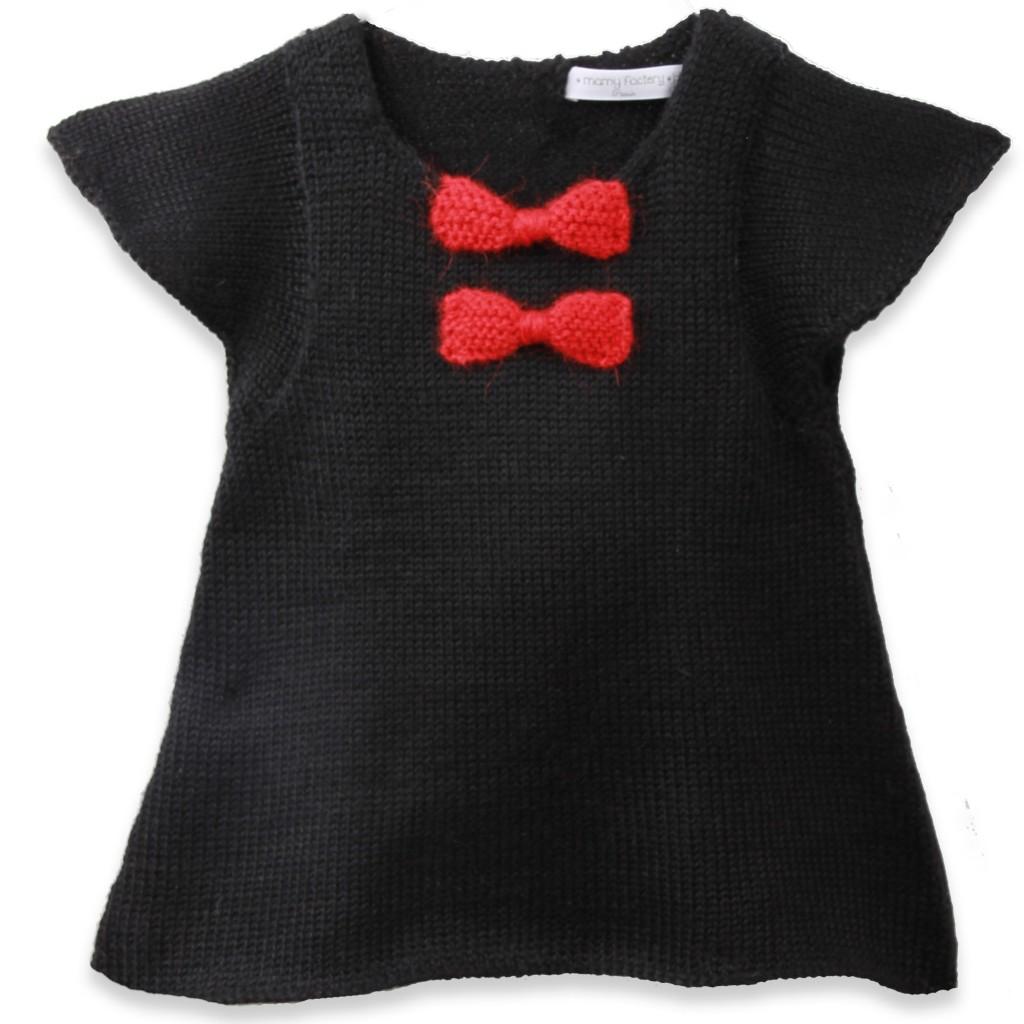 patron robe tricot fille 3 ans