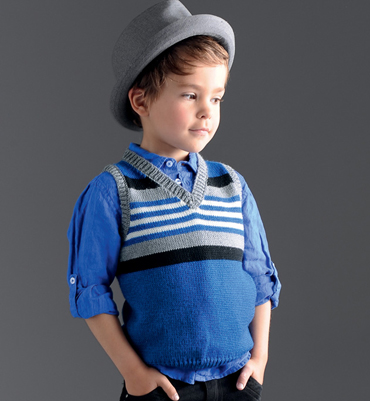 patron tricot debardeur bébé