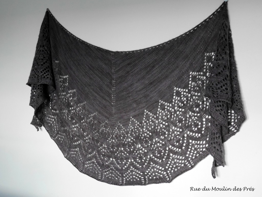 modèle tricot chale dentelle