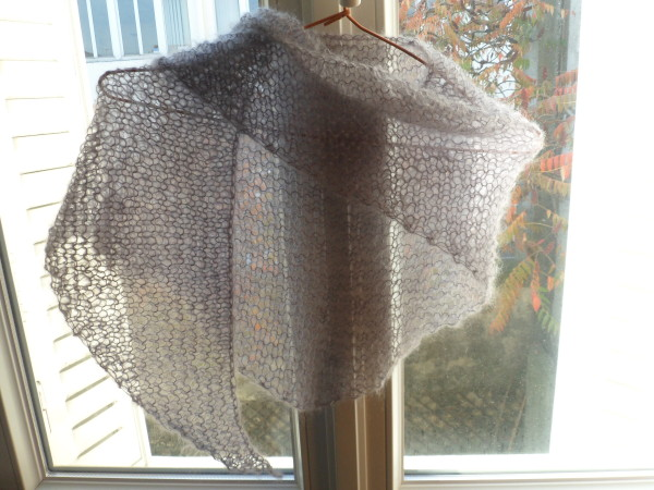 modèle tricot chale mousseux