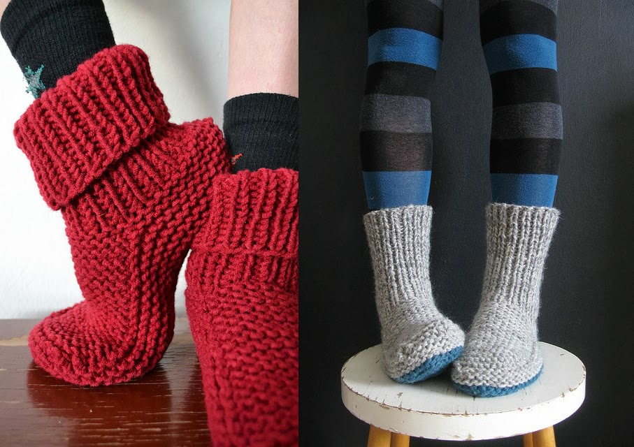 modele tricot chaussettes adulte