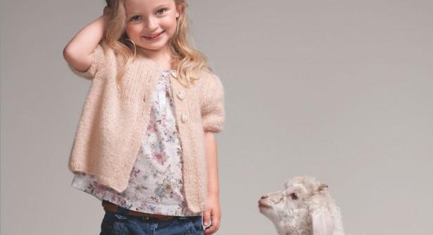 Modele veste tricot petite fille