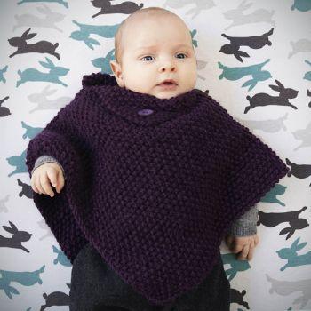 modèle tricot poncho bébé
