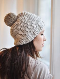 modèle tricot bonnet grosse maille
