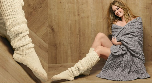 500733818bf modèle tricot chaussettes hautes