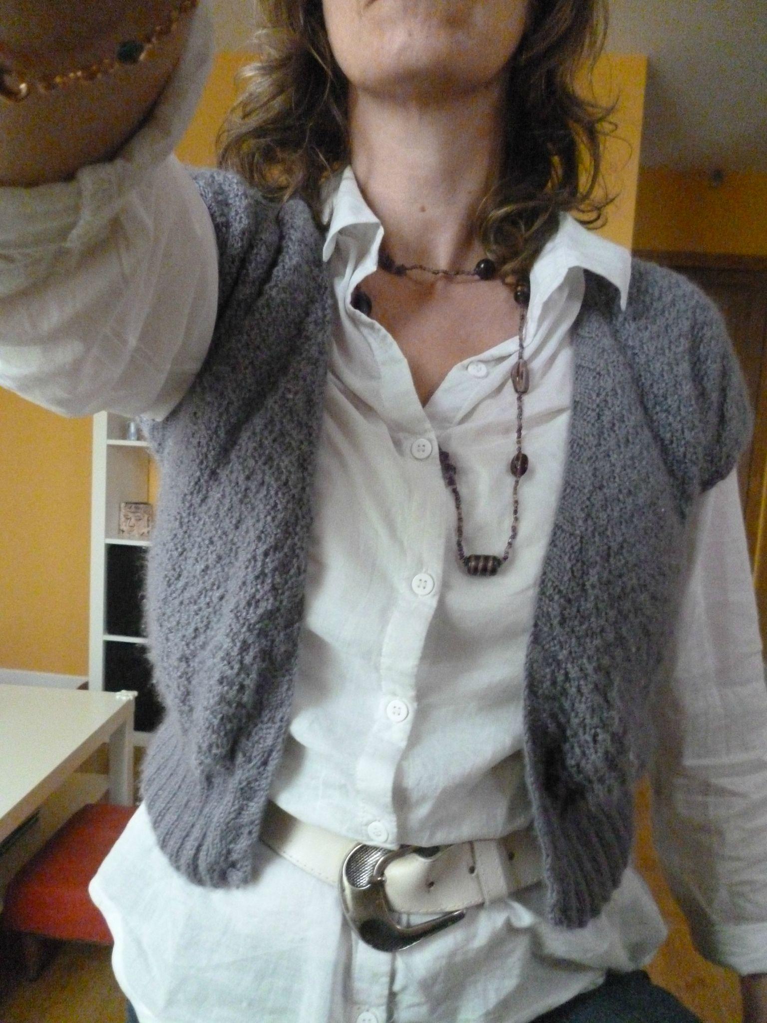 gratuit modèle tricot pull manche chauve souris