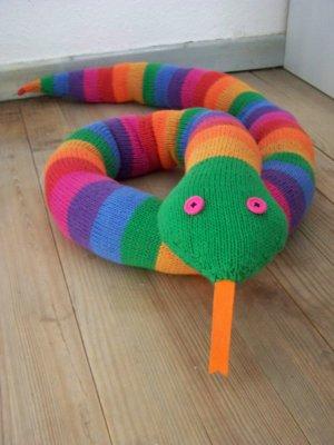 comment tricoter un serpent