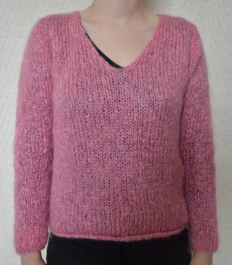 b87eaf4ba1819 idée patron tricot pull col v femme