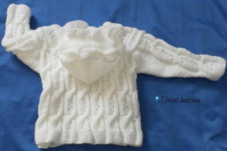 modèle tricot gilet pour bébé