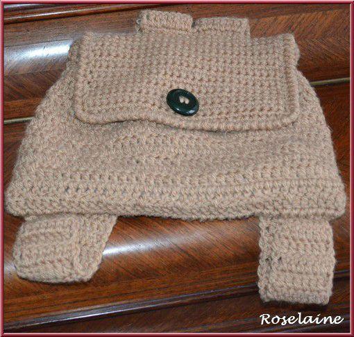 modele tricot sac a dos