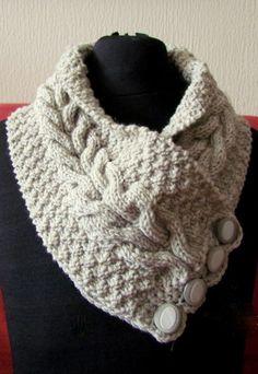 modele tricot echarpe col