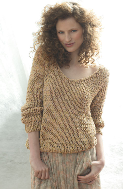 patron tricot pull col v femme