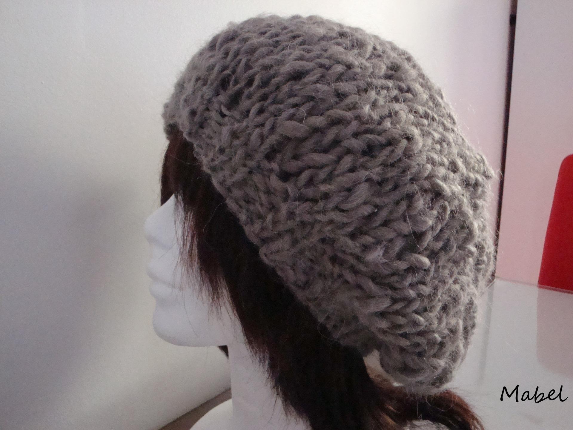 Modele tricot bonnet grosse maille - Monter mailles tricot debutant ...