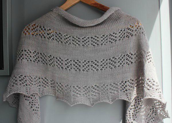 modele chale tricot dentelle gratuit
