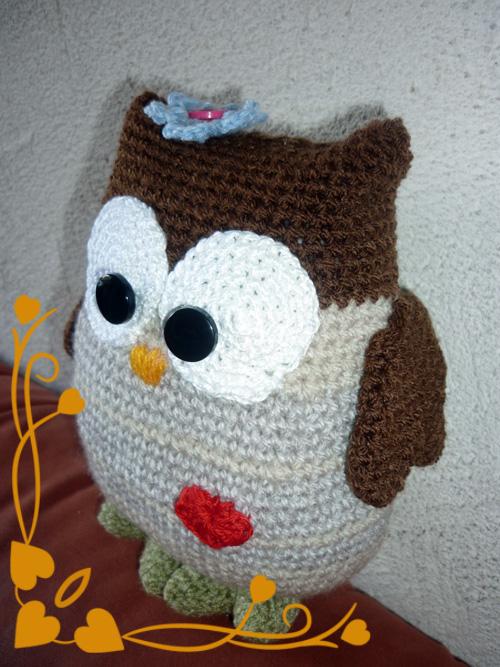 Bonnet à tricoter : le hibouDMCchez Rougier & Plé