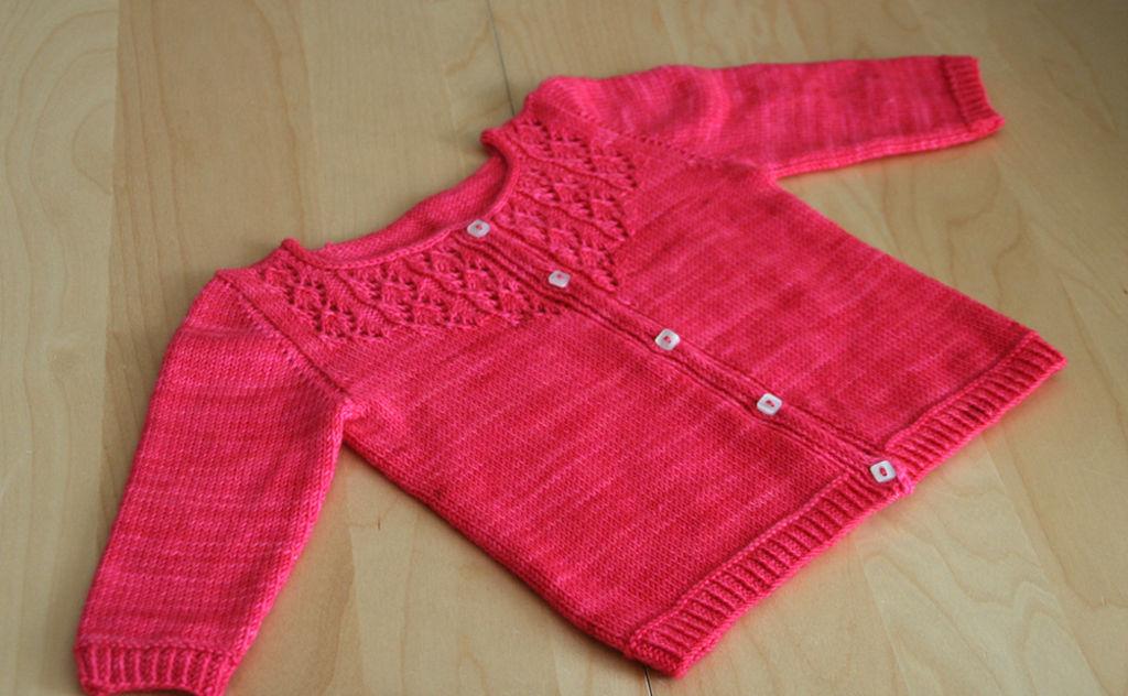 Veste en laine pour petite fille