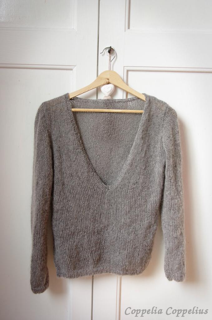 Tuto tricot pull col v