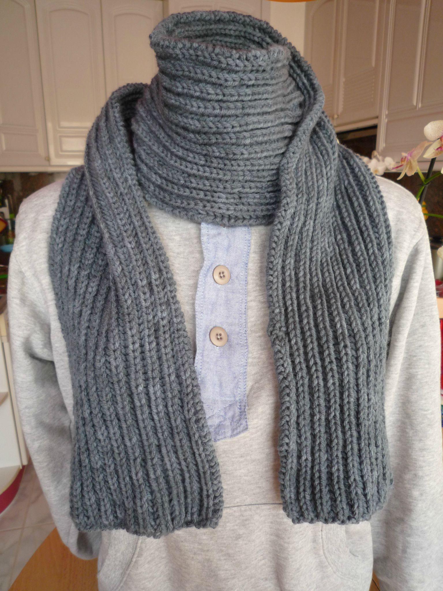 Mod le tricot echarpe laine homme - Tricoter une echarpe en laine ...