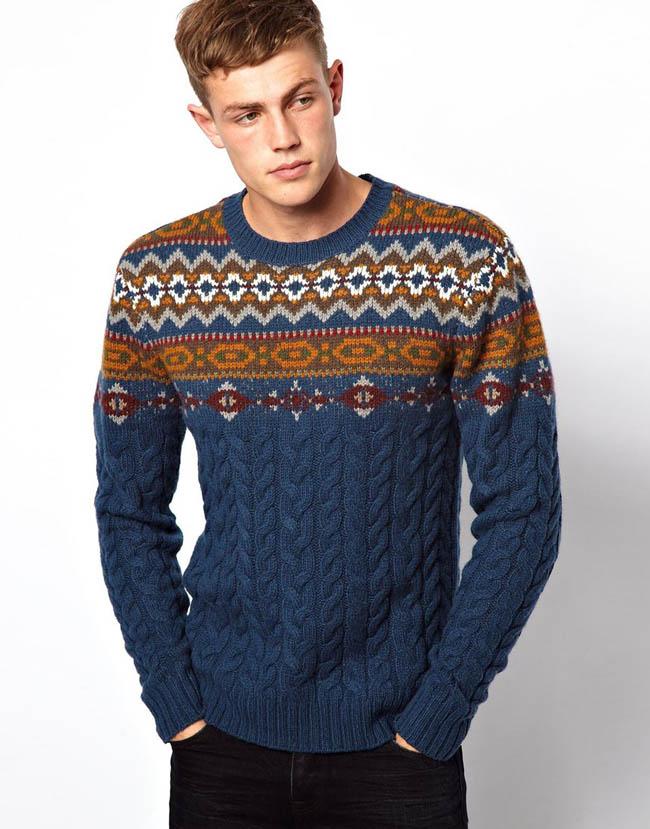 modèle tricot pull jacquard homme