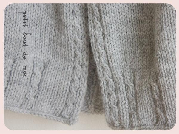 modèle veste tricot petite fille