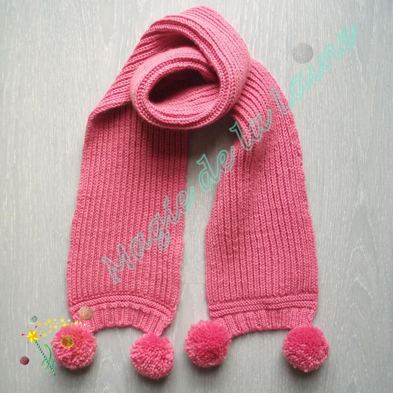modèle tricot echarpe bébé