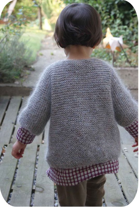 modèle tricot gilet garcon 6 ans