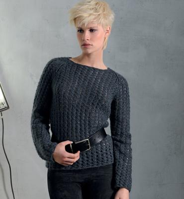 modele tricot pull raglan femme