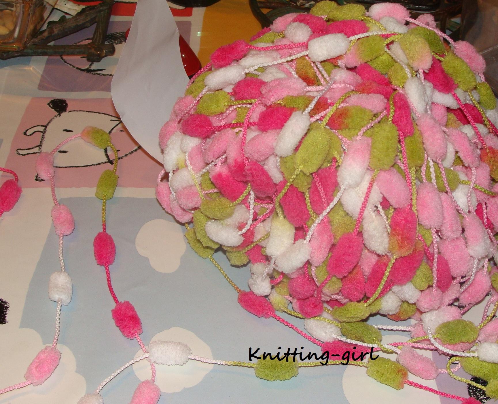 modèle tricot echarpe laine pompon a4988484d5e