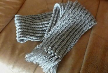 tricoter une echarpe finition