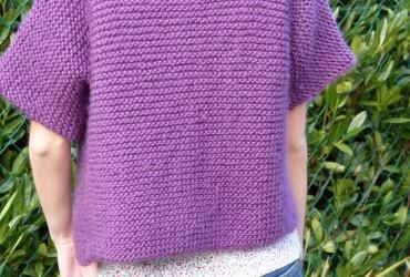modèle gilet tube tricot